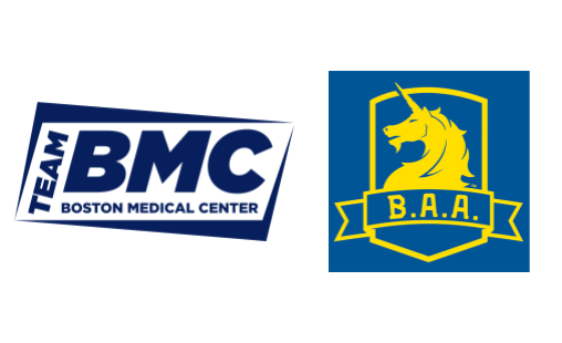 Logos for Team BMC and the Boston Athletic Association